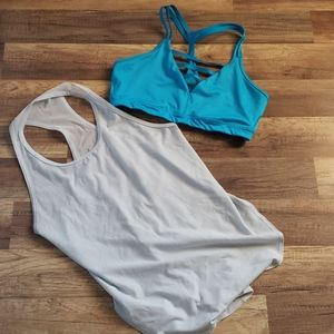 Abercrombie Work Out Tank and VS Sports Bra